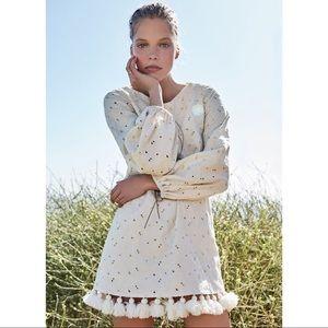 Mar The Jack bell sleeve tassel trim mini dress